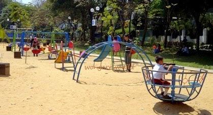 tempat bermain di taman merbabu kota malang