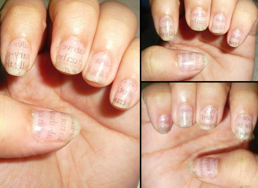 Confessions of a Polymath-Wannabe: Nail Art #2: Writings on the wall ...
