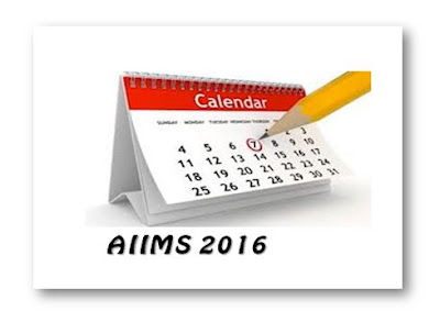 AIIMS 2016 Important dates