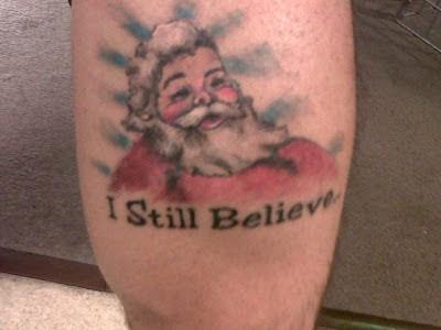 tatuaje de navidad papa noel santa claus