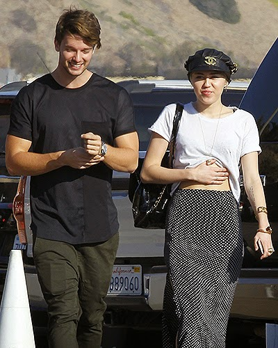 Miley Cyrus and Patrick Schwarzenegger paparazzi photos
