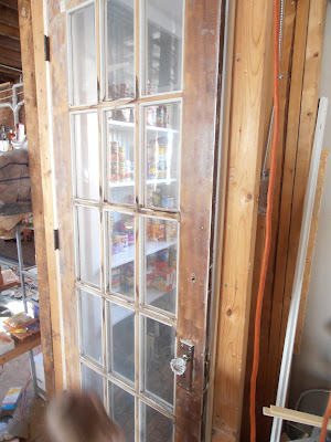 French door into the pantry