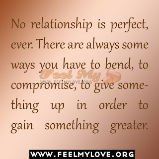 No relationship is perfect, ever