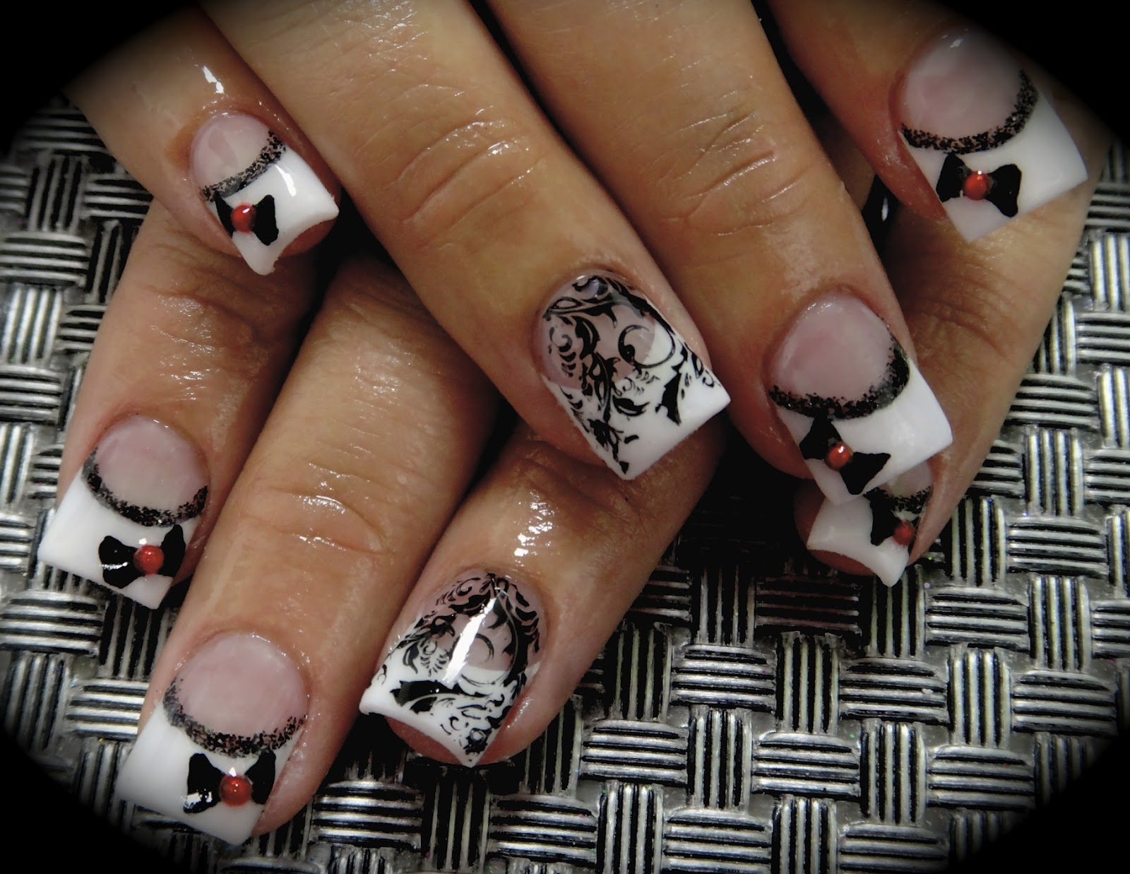 Browning Nail Design Stamp acrylic nail art with 3d