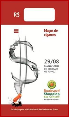 Boulevard São Gonçalo promove ação para impactar o público no Dia Nacional de Combate ao Fumo