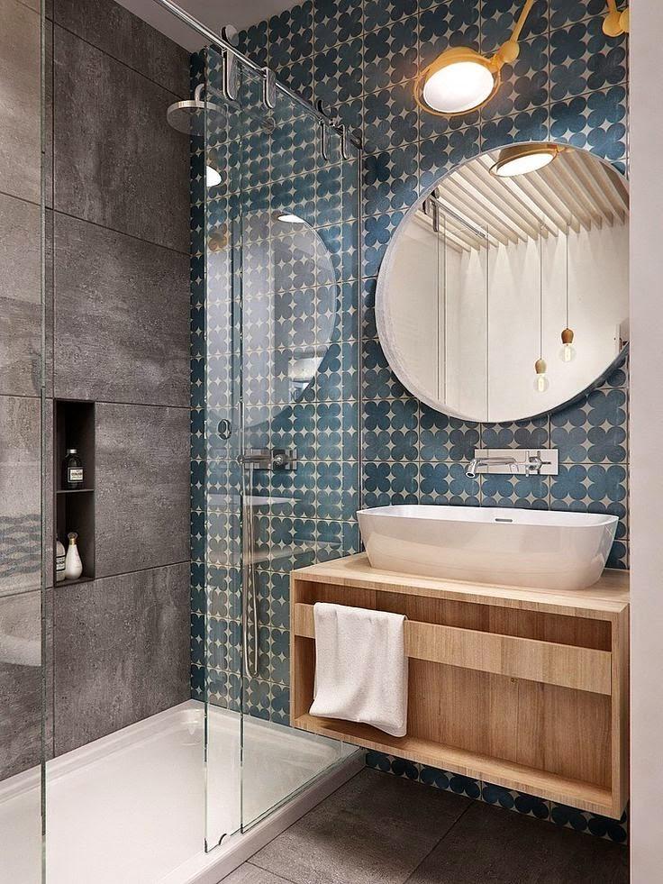 25 ideias para banheiros modernos e pequenos decorados for Ver banos reformados