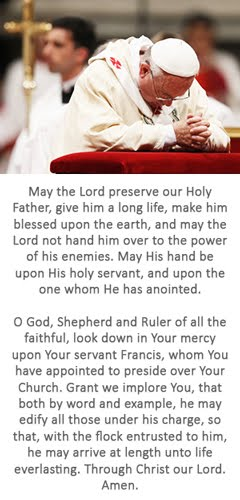Prayer for the Holy Father