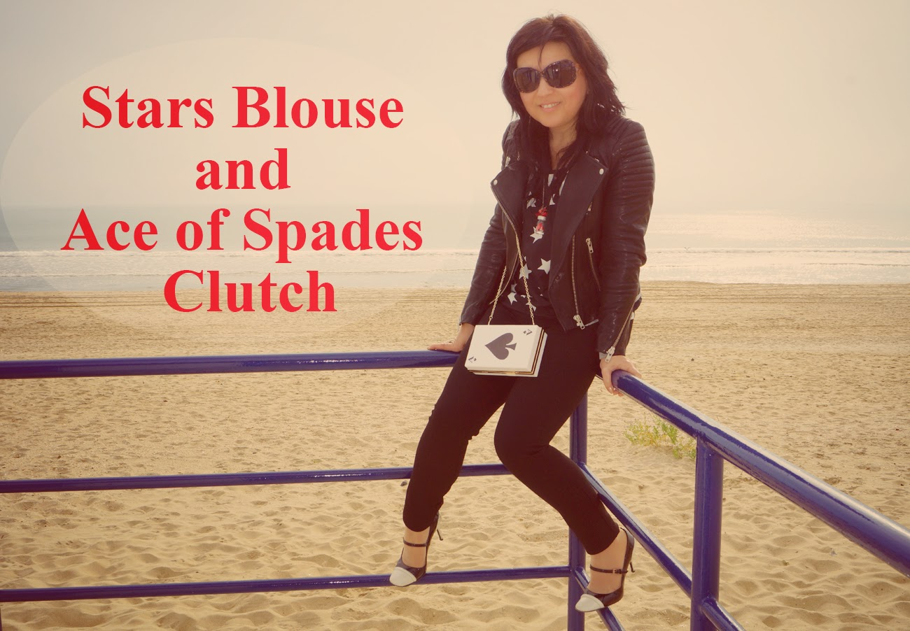 Stars+Blouse+and+Ace+of+Spades+Clutch
