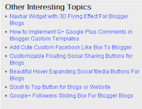 Related Post for Blogger Blog No Thumbnails or Image
