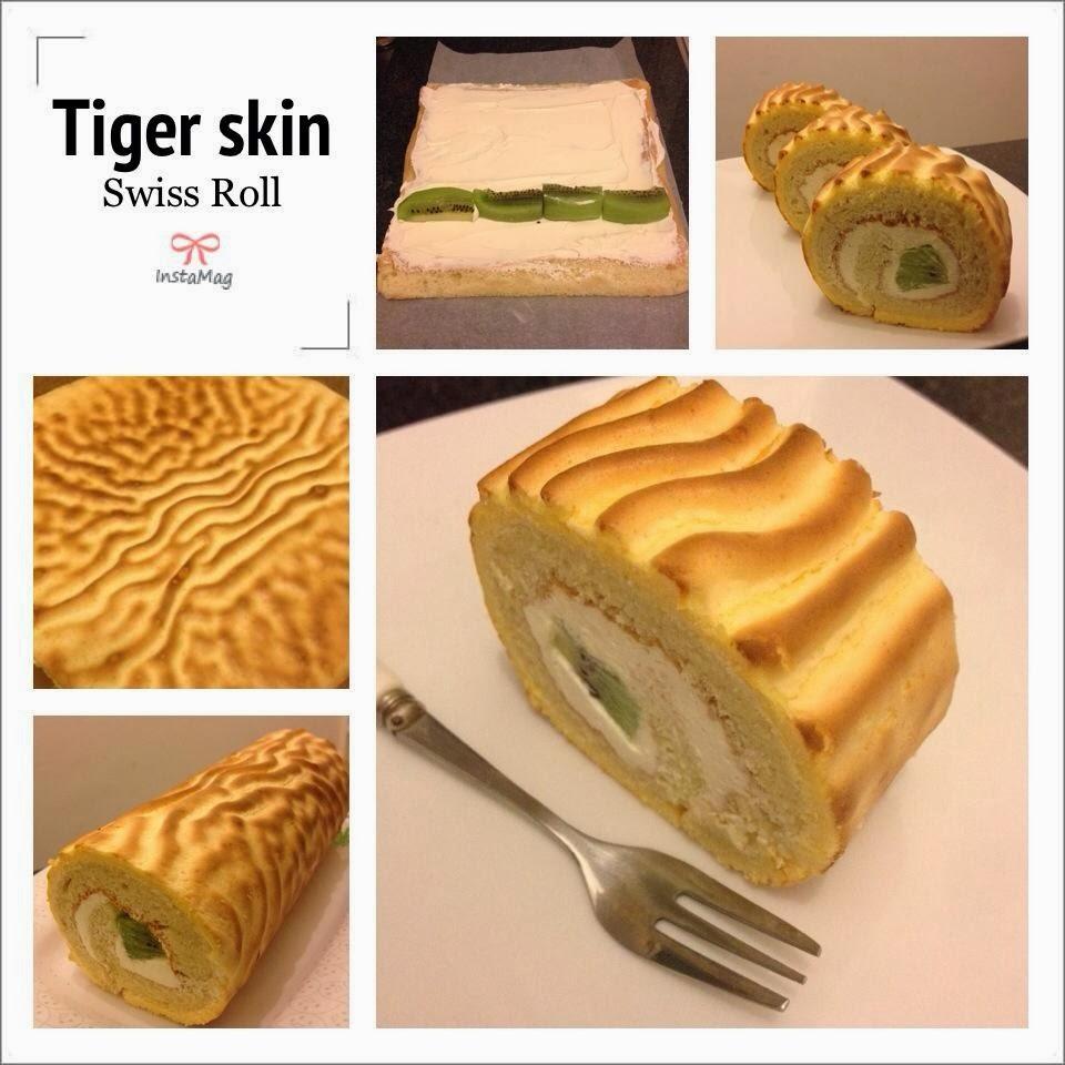 Tiger skin swiss roll