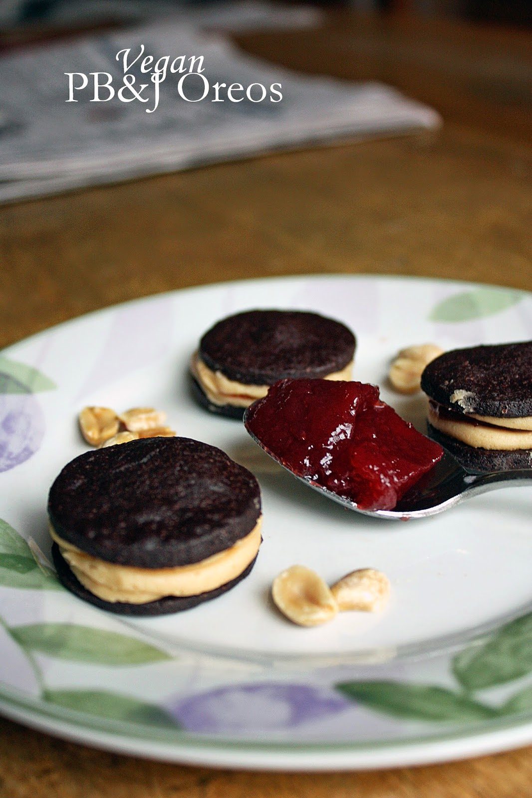vegan peanut butter and jelly oreos