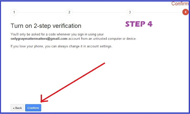 2 step verification for gmail