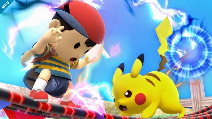 super smash brothers bros wii u nintendo ness mother 2 3 pikachu pokemon