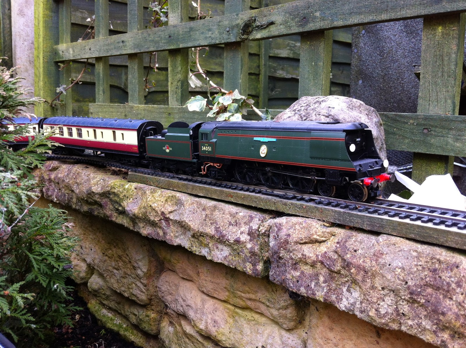 Wonderful So There We Have It, The Garden Railway Has Returned! I Am Hoping That The  00 Gauge Metals Of The Old SSR Will See A Good Few More Trains This Year As  ...
