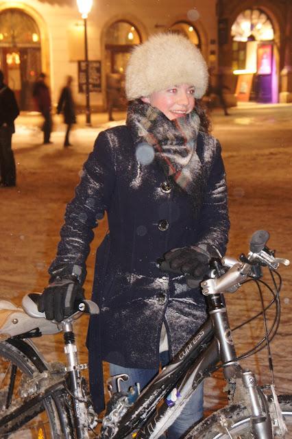 Krakowska Masa Krytyczna luty 2013, cycle chic śnieżne