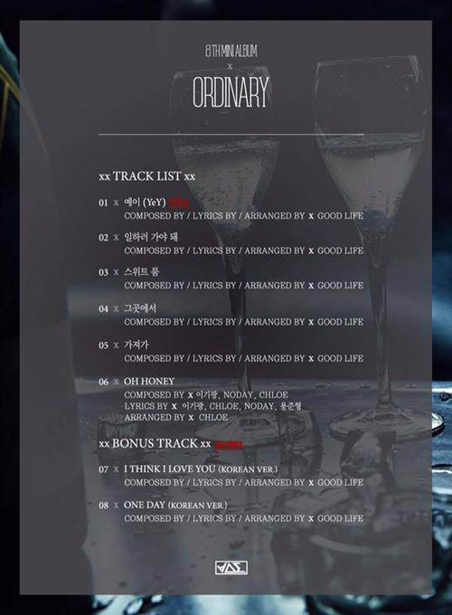 "Daftar Lagu Mini Album Ke-8 BEAST – ""Ordinary"""