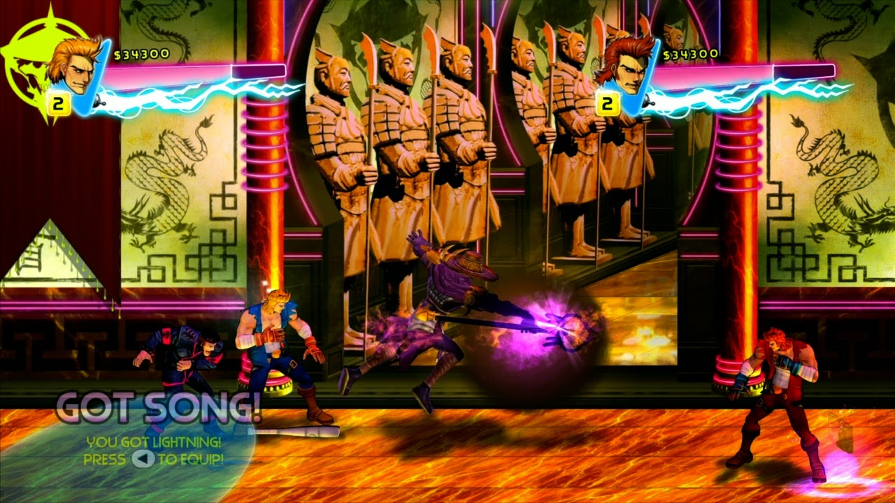 Double Dragon: Neon gameplay