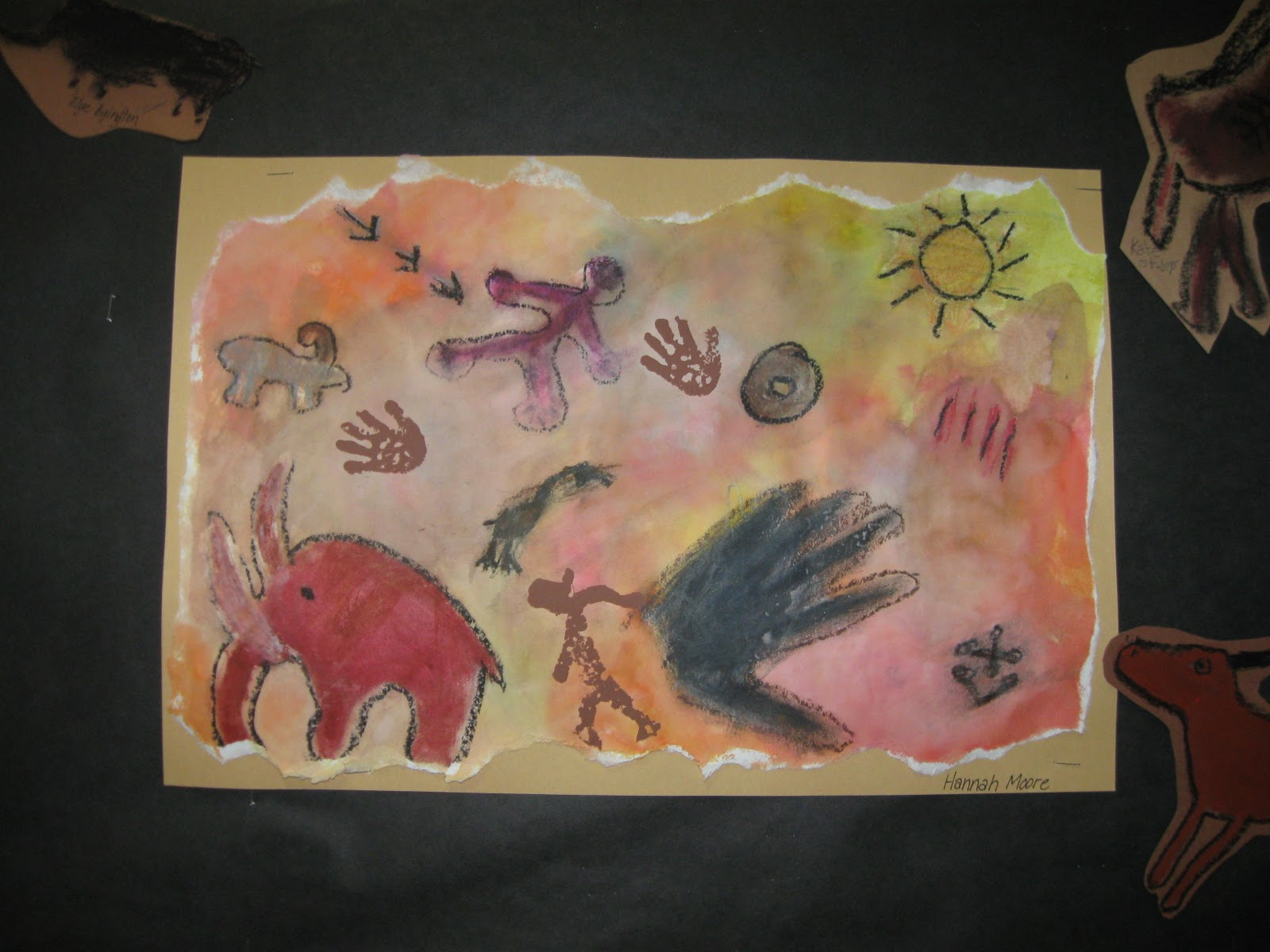 Caveman Art Project : The paper pear th grade cave paintings