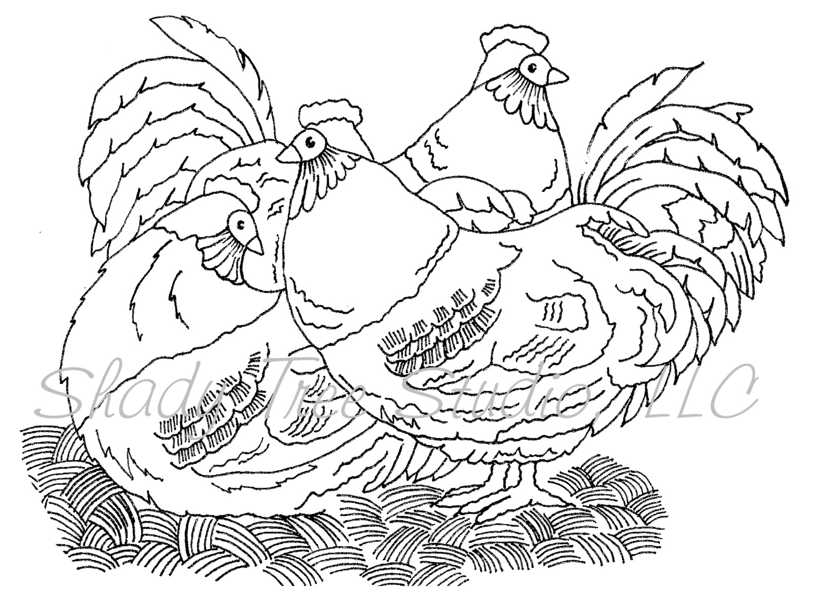 three french hens coloring pages - photo#12