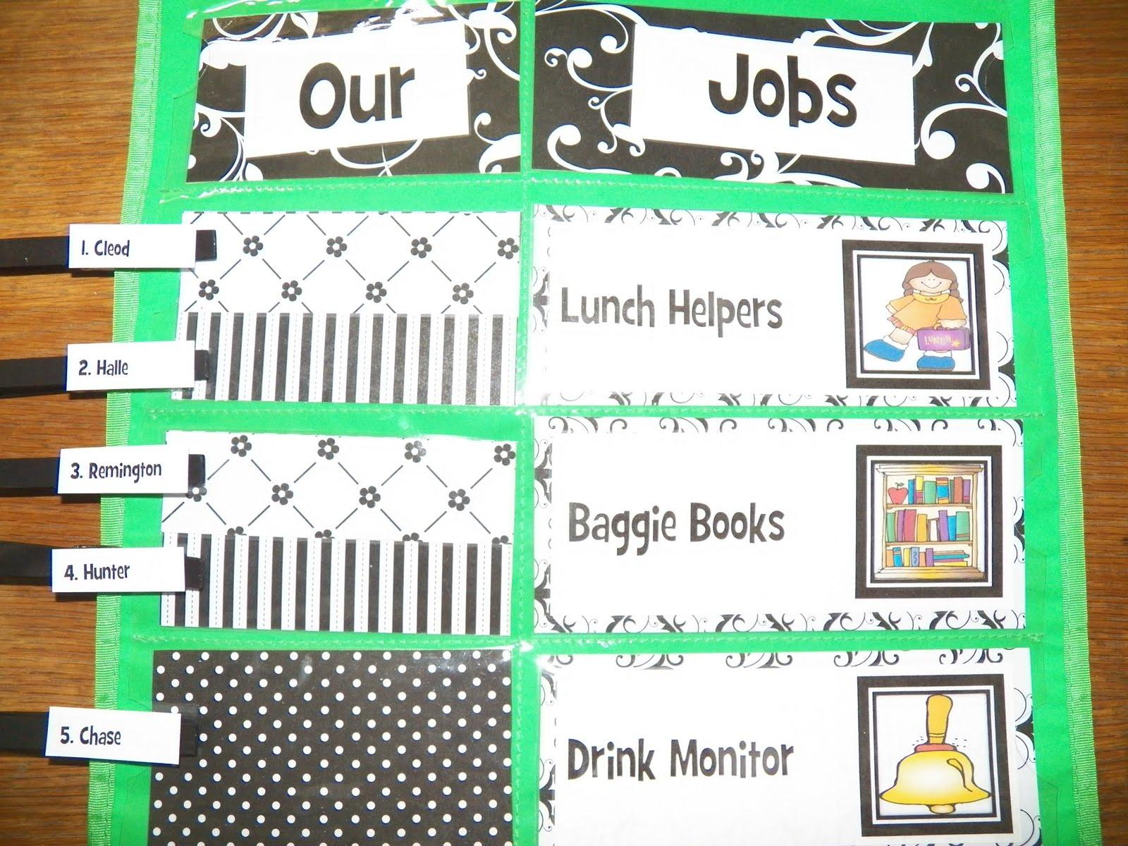 Classroom Job Ideas 1st Grade ~ Fun for first grade classroom student jobs