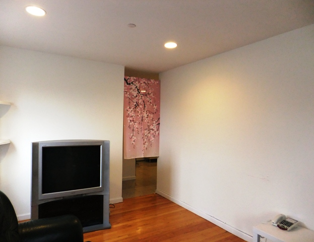 It Was Also Nice To Sectionalize A TV Living Room From A Kitchen By Hanging  A Noren. It Added More Private Section Sense To The Room, And Also The Pink  ...