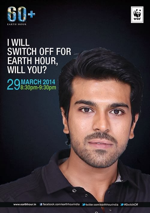 Ram Charan Supports Earth hour