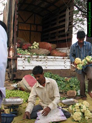 truck load of vegetables