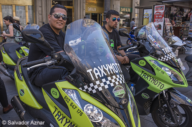 Mototaxis en Madrid