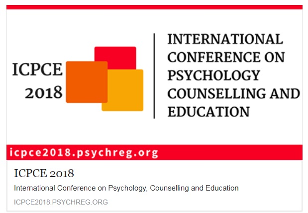 1st International Conference on Psychology, Counselling, and Education (ICPCE 2018)