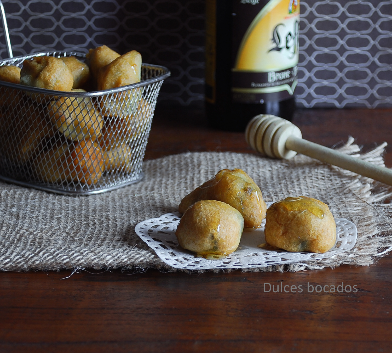 Buñuelos de alcachofas con miel - Dulces bocados
