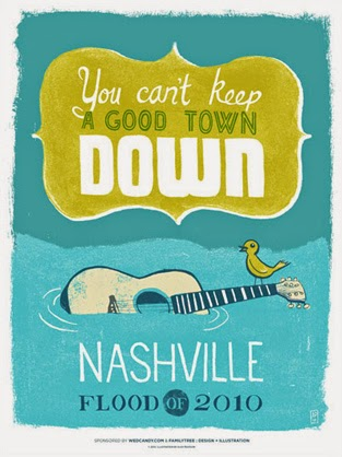 http://www.wedcandy.com/news/cant-keep-a-good-town-down-flood-relief-poster/