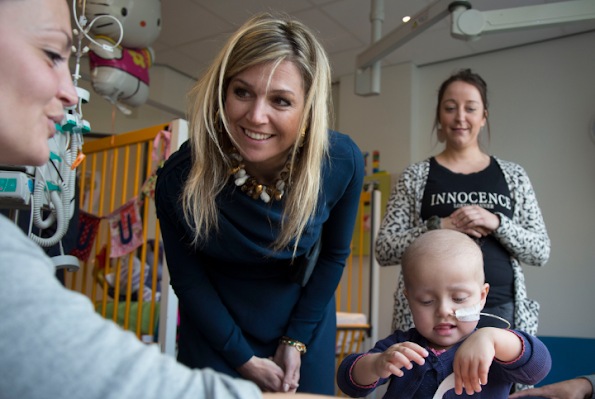 Queen Maxima of The Netherlands visited the Princess Maxima Center for pediatric oncology in Utrecht