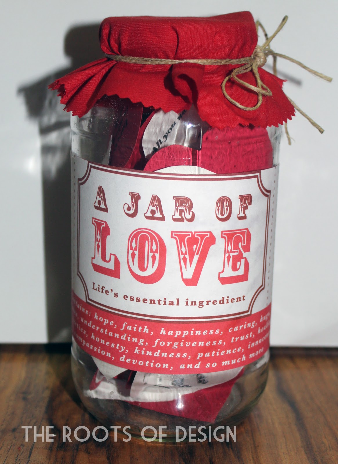 The Roots Of Design Jar Of Love