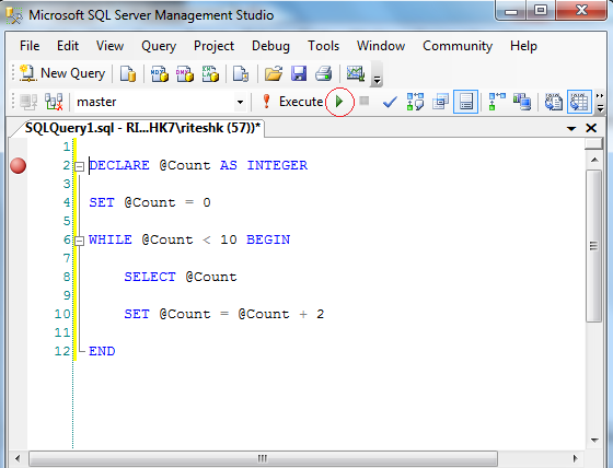 How to write sql queries in sql server management studio