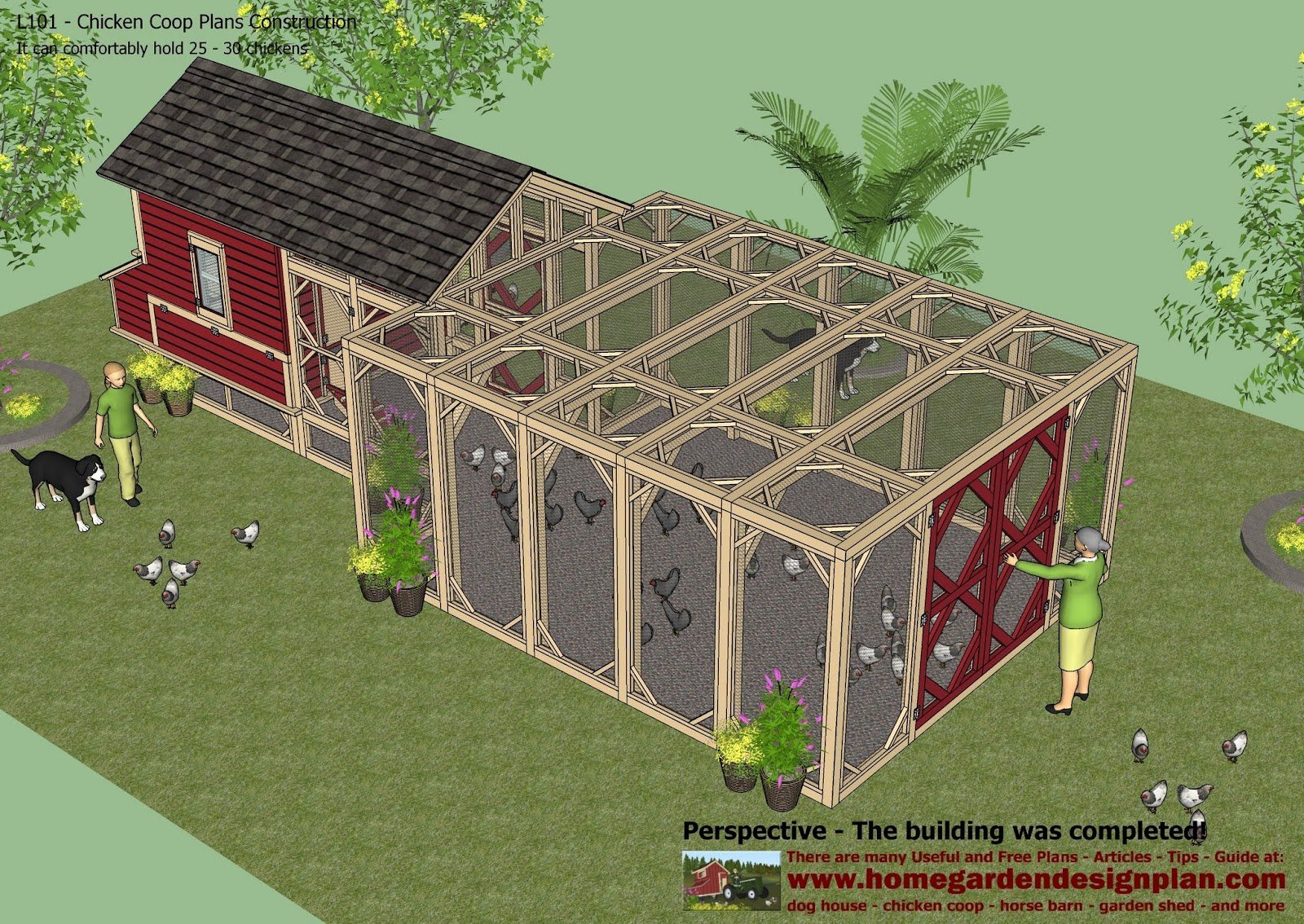 Home garden plans home garden plans l101 chicken coop for Home and garden planner