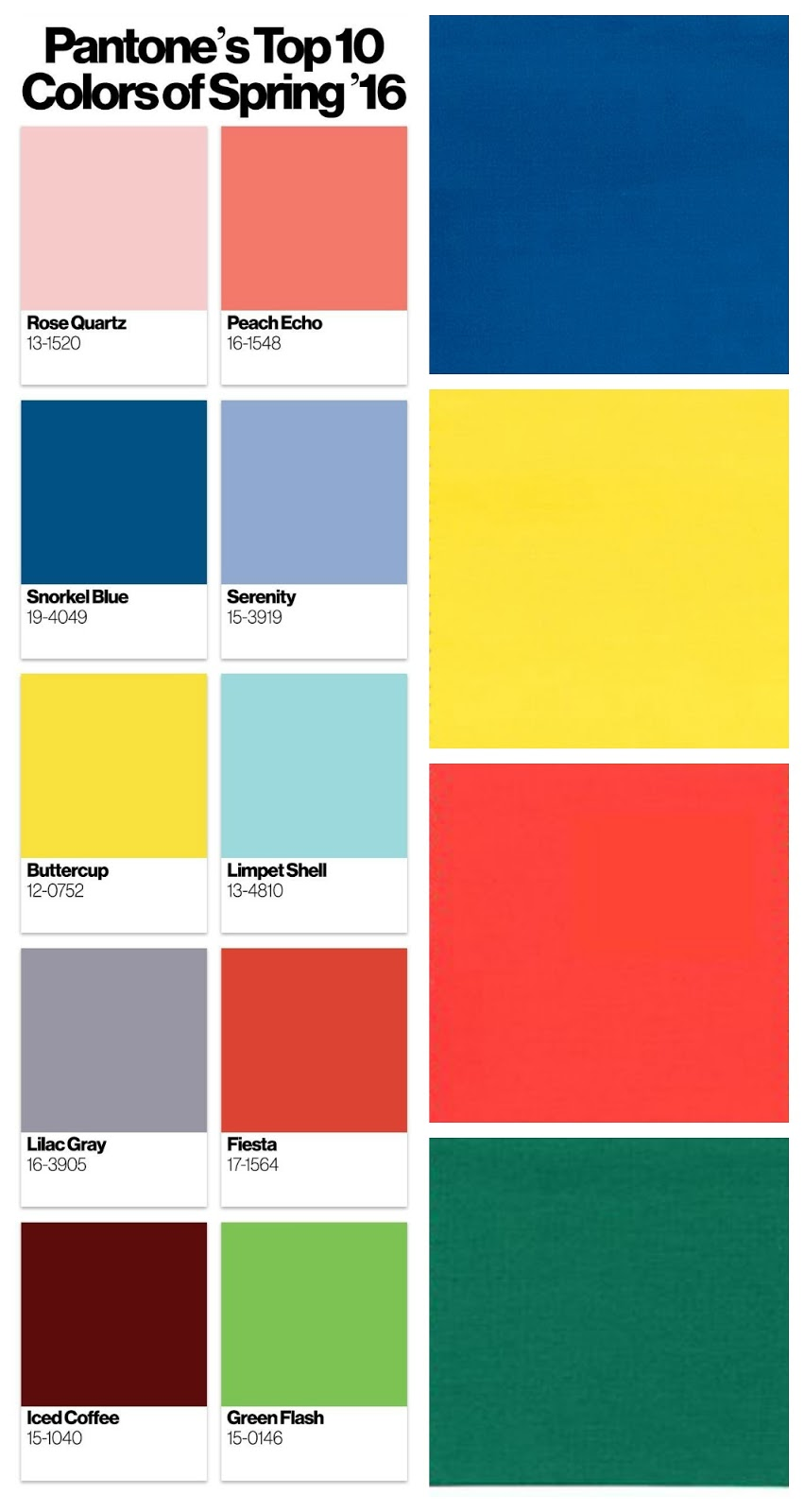 Focal point styling pantone palette on the golden globes for Pantone paint colors