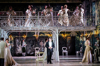 Brett Polegato as Onegin in act 3  of Grange Park Opera' s Eugene Onegin