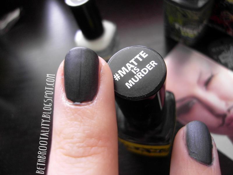 ☠ Beth Br00tality ☠: Review & Giveaway: Manglaze Matte Nail Polish
