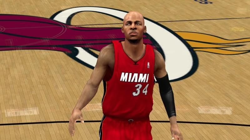NBA 2K14 Ray Allen Cyberface Patch
