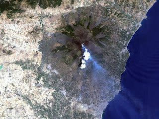 Mount Etna Space View HD Photo
