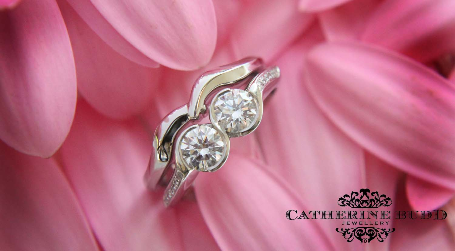 CATHERINE BUDD JEWELLERY: A perfect wedding and engagement ring match...