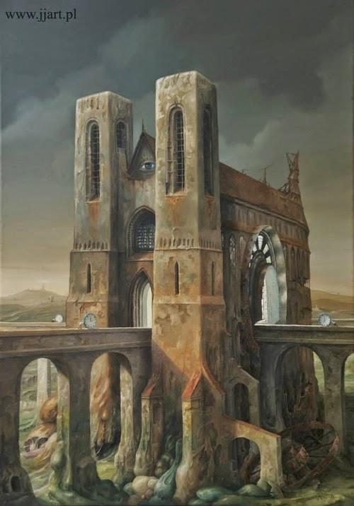 18-Jarosław-Jaśnikowski-Surreal-Paintings-of-Fantastic-Realism-www-designstack-co
