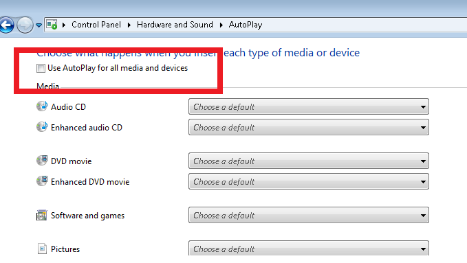 Cara Menonaktifkan Autoplay di Windows 7