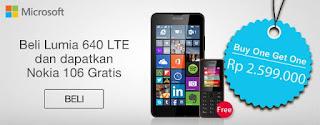 Microsoft Buy One Get One Promo (Lumia 640 LTE Bonus Nokia 106)