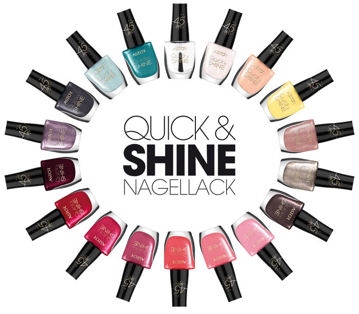 Astor: New Nail Polish Range Quick & Shine