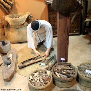 Maqueta de preparación de medicina tradicional coreana