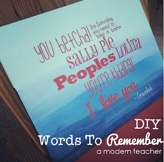 DIY Words to Remember, gift, www.amodernteacher.com