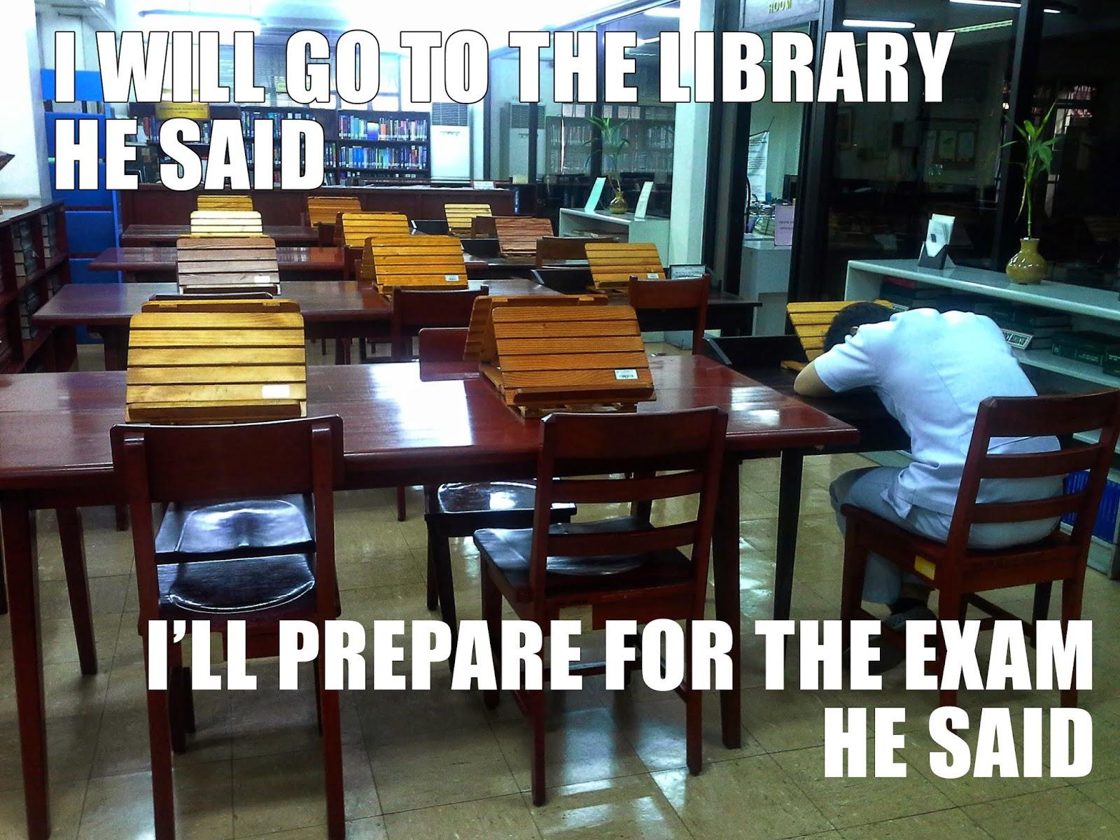 Library, School, Medicine, Funny