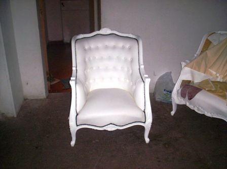 Reciclado de sillas y sillones dos sillones estilo luis for Reciclado de sillones
