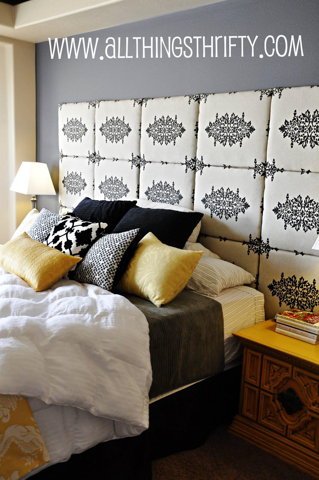 Изголовье кровати из квадратов своими руками